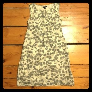 Gap 100% cotton gray and white floral dress size 0